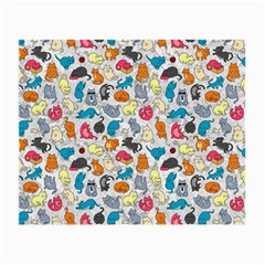 Funny Cute Colorful Cats Pattern Small Glasses Cloth (2 Side)