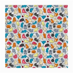 Funny Cute Colorful Cats Pattern Medium Glasses Cloth (2 Side)