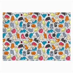 Funny Cute Colorful Cats Pattern Large Glasses Cloth (2 Side)