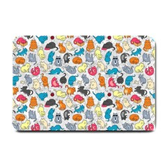 Funny Cute Colorful Cats Pattern Small Doormat