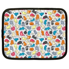 Funny Cute Colorful Cats Pattern Netbook Case (large)