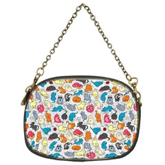 Funny Cute Colorful Cats Pattern Chain Purses (two Sides)