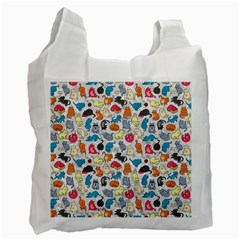 Funny Cute Colorful Cats Pattern Recycle Bag (two Side)