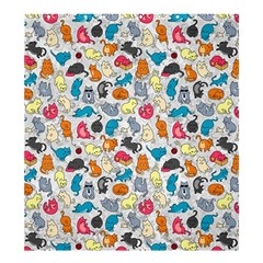 Funny Cute Colorful Cats Pattern Shower Curtain 66  X 72  (large)