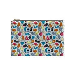Funny Cute Colorful Cats Pattern Cosmetic Bag (medium)