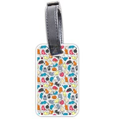 Funny Cute Colorful Cats Pattern Luggage Tags (one Side)