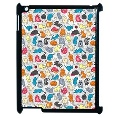 Funny Cute Colorful Cats Pattern Apple Ipad 2 Case (black)