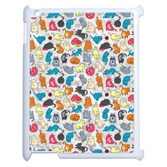 Funny Cute Colorful Cats Pattern Apple Ipad 2 Case (white)