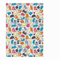Funny Cute Colorful Cats Pattern Small Garden Flag (two Sides)