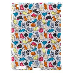 Funny Cute Colorful Cats Pattern Apple Ipad 3/4 Hardshell Case (compatible With Smart Cover) by EDDArt