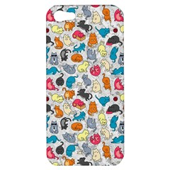 Funny Cute Colorful Cats Pattern Apple Iphone 5 Hardshell Case