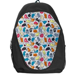 Funny Cute Colorful Cats Pattern Backpack Bag