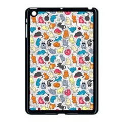 Funny Cute Colorful Cats Pattern Apple Ipad Mini Case (black)