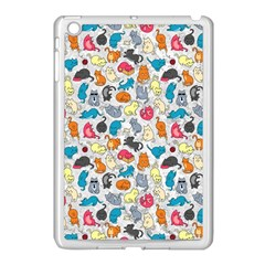 Funny Cute Colorful Cats Pattern Apple Ipad Mini Case (white)