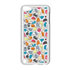 Funny Cute Colorful Cats Pattern Apple Ipod Touch 5 Case (white)