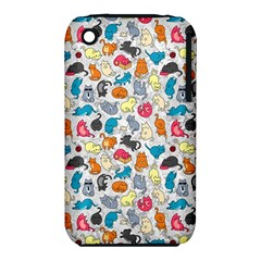 Funny Cute Colorful Cats Pattern Iphone 3s/3gs