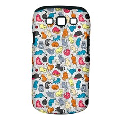 Funny Cute Colorful Cats Pattern Samsung Galaxy S Iii Classic Hardshell Case (pc+silicone)