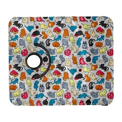Funny Cute Colorful Cats Pattern Samsung Galaxy S  Iii Flip 360 Case