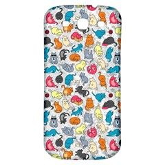 Funny Cute Colorful Cats Pattern Samsung Galaxy S3 S Iii Classic Hardshell Back Case