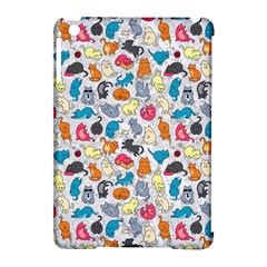Funny Cute Colorful Cats Pattern Apple Ipad Mini Hardshell Case (compatible With Smart Cover)