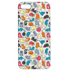 Funny Cute Colorful Cats Pattern Apple Iphone 5 Hardshell Case With Stand