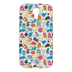 Funny Cute Colorful Cats Pattern Samsung Galaxy S4 I9500/i9505 Hardshell Case