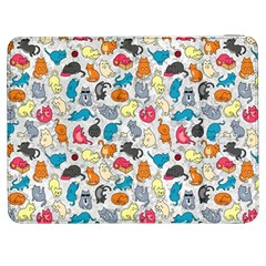Funny Cute Colorful Cats Pattern Samsung Galaxy Tab 7  P1000 Flip Case