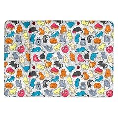 Funny Cute Colorful Cats Pattern Samsung Galaxy Tab 10 1  P7500 Flip Case
