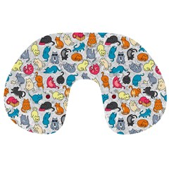 Funny Cute Colorful Cats Pattern Travel Neck Pillows