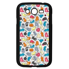 Funny Cute Colorful Cats Pattern Samsung Galaxy Grand Duos I9082 Case (black)