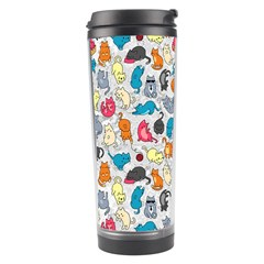 Funny Cute Colorful Cats Pattern Travel Tumbler