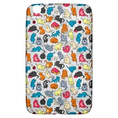Funny Cute Colorful Cats Pattern Samsung Galaxy Tab 3 (8 ) T3100 Hardshell Case