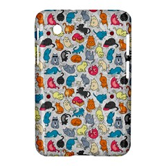 Funny Cute Colorful Cats Pattern Samsung Galaxy Tab 2 (7 ) P3100 Hardshell Case