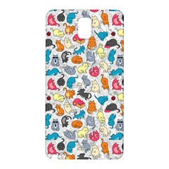 Funny Cute Colorful Cats Pattern Samsung Galaxy Note 3 N9005 Hardshell Back Case