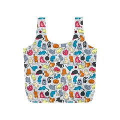 Funny Cute Colorful Cats Pattern Full Print Recycle Bags (s)