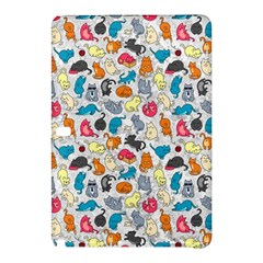 Funny Cute Colorful Cats Pattern Samsung Galaxy Tab Pro 10 1 Hardshell Case