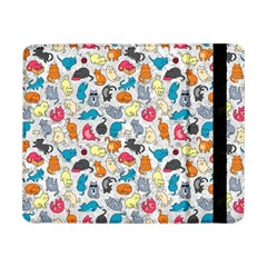 Funny Cute Colorful Cats Pattern Samsung Galaxy Tab Pro 8 4  Flip Case