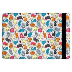 Funny Cute Colorful Cats Pattern Ipad Air Flip