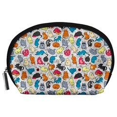 Funny Cute Colorful Cats Pattern Accessory Pouches (large)
