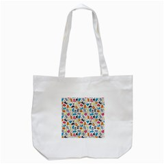 Funny Cute Colorful Cats Pattern Tote Bag (white)