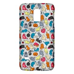 Funny Cute Colorful Cats Pattern Samsung Galaxy S5 Mini Hardshell Case