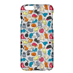 Funny Cute Colorful Cats Pattern Apple Iphone 6 Plus/6s Plus Hardshell Case by EDDArt