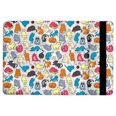 Funny Cute Colorful Cats Pattern Ipad Air 2 Flip