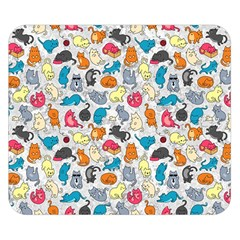 Funny Cute Colorful Cats Pattern Double Sided Flano Blanket (small)