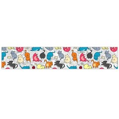 Funny Cute Colorful Cats Pattern Large Flano Scarf