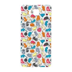 Funny Cute Colorful Cats Pattern Samsung Galaxy Alpha Hardshell Back Case