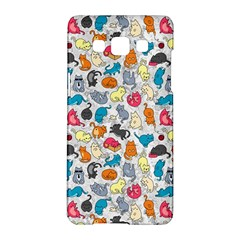 Funny Cute Colorful Cats Pattern Samsung Galaxy A5 Hardshell Case