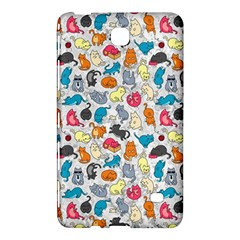 Funny Cute Colorful Cats Pattern Samsung Galaxy Tab 4 (7 ) Hardshell Case