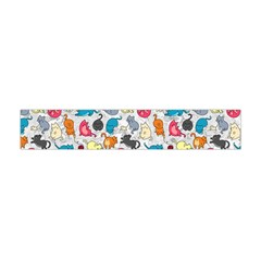 Funny Cute Colorful Cats Pattern Flano Scarf (mini)