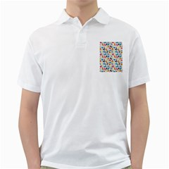 Funny Cute Colorful Cats Pattern Golf Shirts